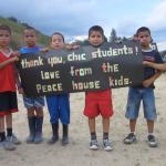Covenant Kids Colombia Casa de Paz- say thank you